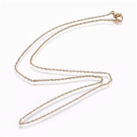 304 Stainless Steel Cable Chain Necklaces, with Lobster Claw Clasps