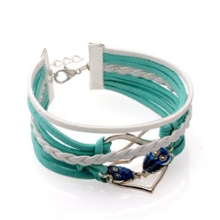 Faux Suede Cord Infinity Link Bracelets