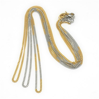 "Trendy Unisex 304 Stainless Steel Twist Chain Necklaces, with Lobster Claw Clasps, 19.88""-1"