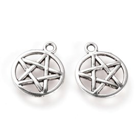304 Stainless Steel Pendants, Pentagram