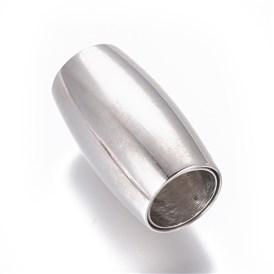 304 Stainless Steel Magnetic Clasps, Oval