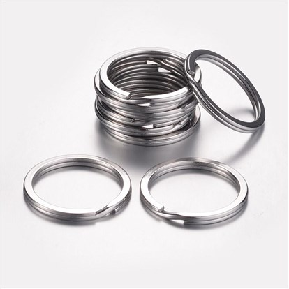 304 Stainless Steel Key Clasps, Ring-1