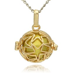 DarkKhaki Golden Tone Brass Hollow Round Cage Mexican Ball Pendants, with No Hole Spray Painted Brass Ball Beads, DarkKhaki, 23x24x18mm, Hole: 3x8mm