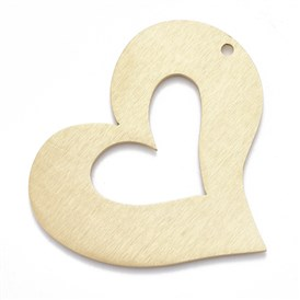 Aluminium Big Pendants, Laser Cut Big Pendants, Heart