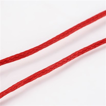Waxed Polyester Cord, 1x0.5mm; 10m/roll-1