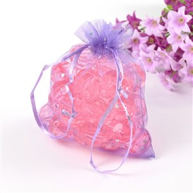 Organza Bags, Wedding Favour Bags, with Sequins, 12x10cm