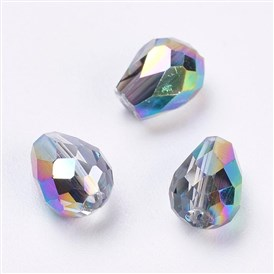 Imitation Austrian Crystal Beads, Grade AAA, Faceted, Drop