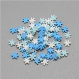Handmade Polymer Clay Cabochons, Snowflake