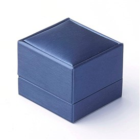 PU Leather Ring Boxes, Rectangle