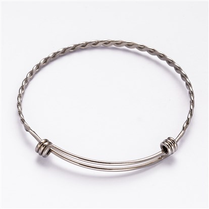304 Stainless Steel Bangles, 63mm-1