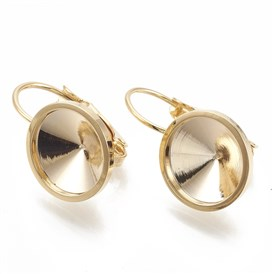 Brass Leverback Earring Findings, Real Gold Plated