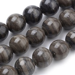 Wood Lace Stone Natural Wood Lace Stone Beads Strands, Round, 10mm, Hole: 1mm; about 40pcs/strand, 15.7""