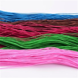 Round Elastic Cord, Made of Rubber, Wraped by Fibre