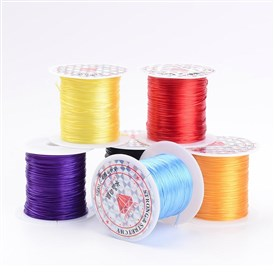 Elastic Fibre Wire, 0.8mm; 10m/roll, 25rolls/bag