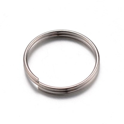 304 Stainless Steel Key Clasps, Ring, 12x14x2mm-1