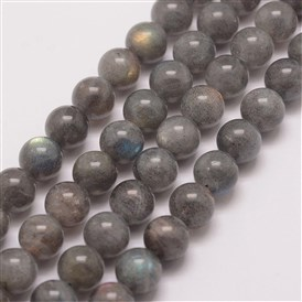Natural Labradorite Bead Strands, Round