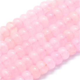 Natural Rose Quartz Beads Strands, Rondelle