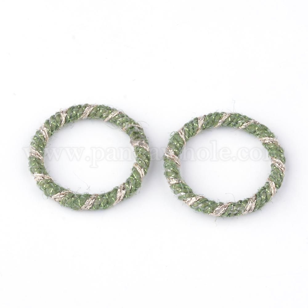 Wholesale Iron Linking Rings With Hemp Cord Ring In Bulk