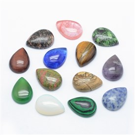Natural/Synthetic Gemstone Cabochons, Drop