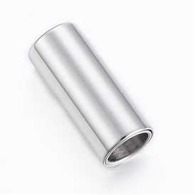 Smooth 304 Stainless Steel Magnetic Clasps, Column