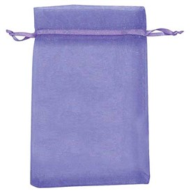Rectangle Organza Bags, with Ribbons, 12.7x7.6cm