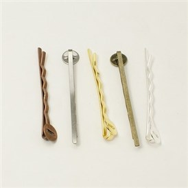 Iron Hair Bobby Pin Findings, 2x52x2mm