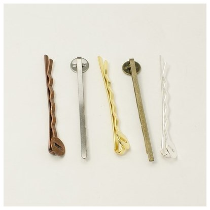 Iron Hair Bobby Pin Findings, 2x52x2mm-1