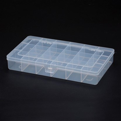 Polypropylene Plastic Bead Storage Containers, 18 Compartments, Rectangle-1
