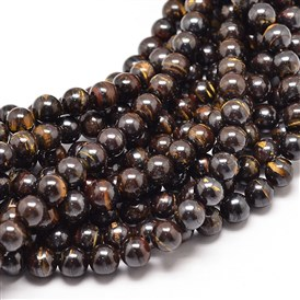 Natura Tiger Iron Round Bead Strands