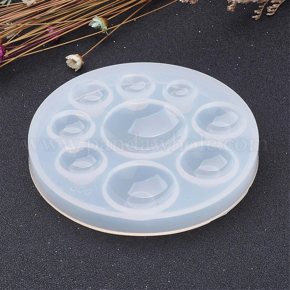 DIY Silicone Molds, For Resin Jewelry Making, Flat Round