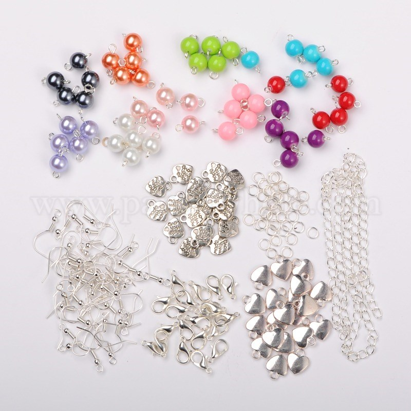 Glass Beads with Metal Findings