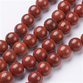 Natural Red Jasper Round Beads Strands