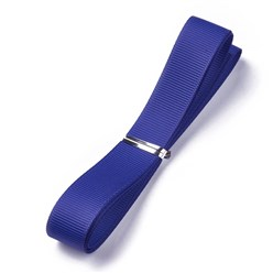 "DarkBlue Grosgrain Ribbons, Polyester Ribbons, Blue Series, DarkBlue, 5/8""(16mm); about 1yard/strand(0.9144m/strand)"