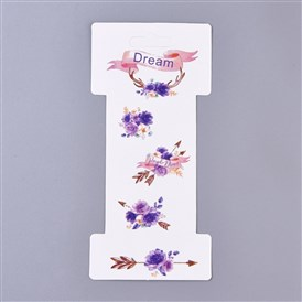 Floral Pattern Paper Jewelry Display Cards, for Hair Accessories Display
