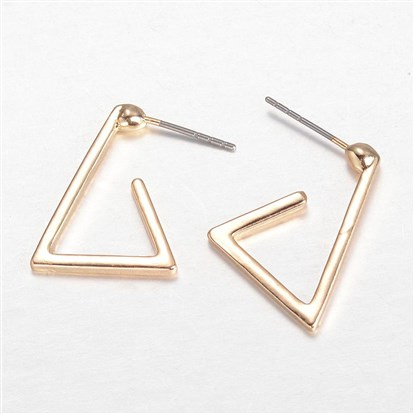 Alloy Ear Studs, Triangle-1