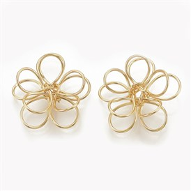 Brass Wire Beads, Flower
