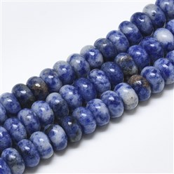 Blue Spot Jasper Natural Blue Spot Jasper Beads Strands, Rondelle, 10x6mm, Hole: 1mm; about 67pcs/strand, 15.3""