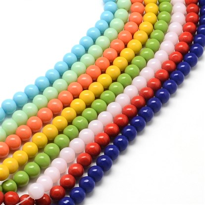 Round Glass Bead Strands-1