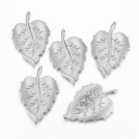 304 Stainless Steel Cabochon, Leaf