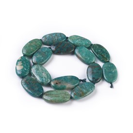 Natural Amazonite Beads Strands, Oval