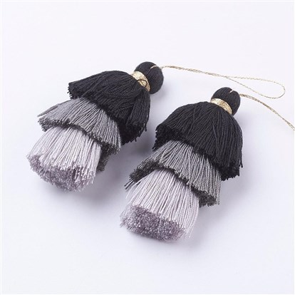 Nylon Tassels Big Pendant Decorations, Three Layers