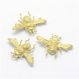Brass Pendants, Lead Free & Cadmium Free & Nickel Free, Bee