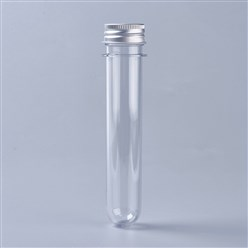 Clear Clear Tube Plastic Bead Containers, with Lid, Clear, 14x3.15cm
