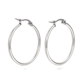 201 Stainless Steel Hoop Earrings
