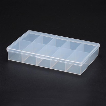 Polypropylene Plastic Bead Storage Containers, 10 Compartments, Rectangle-1
