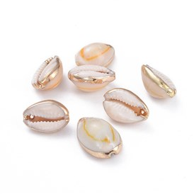 Electroplate Cowrie Shell Pendants, Shell