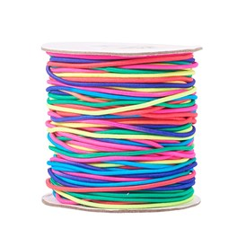 Round Elastic Cord, with Nylon Outside and Rubber Inside
