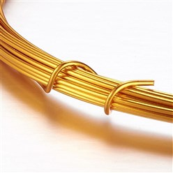 Goldenrod Aluminum Wire, Goldenrod, 2mm, about 5m/roll