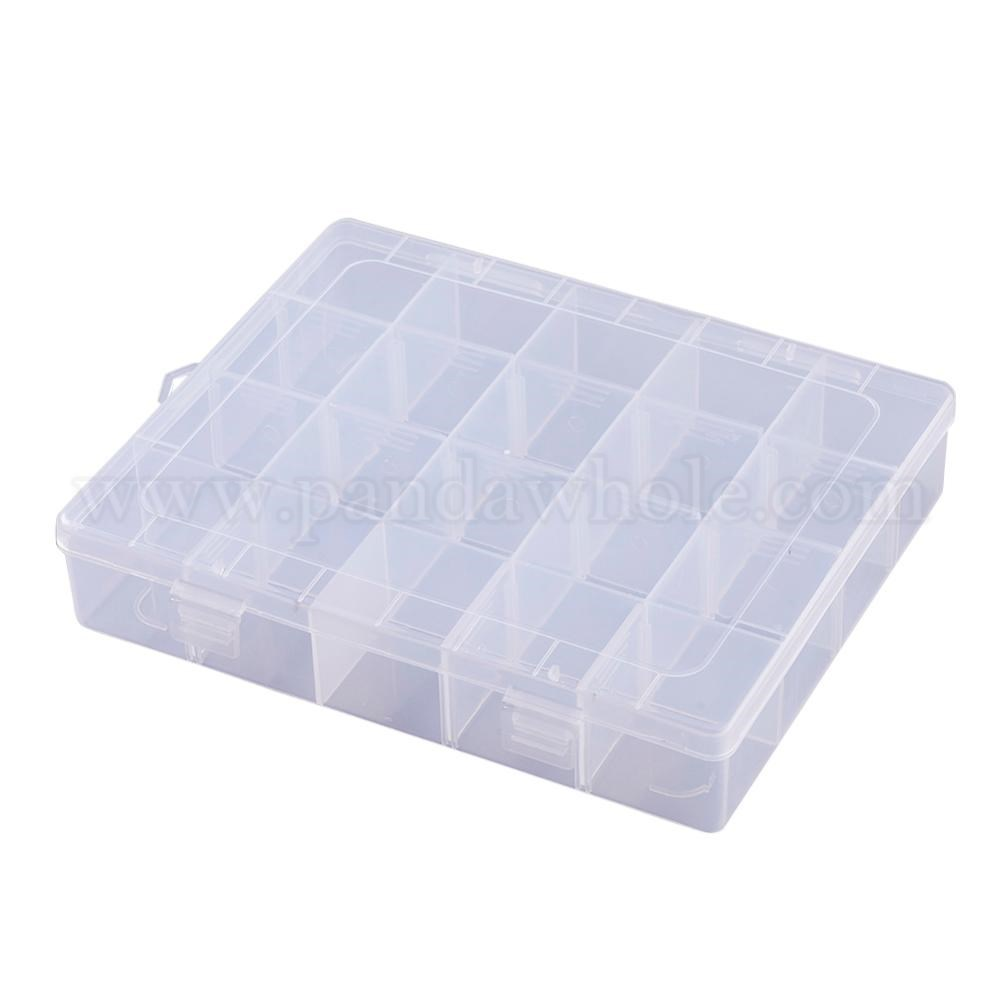 Wholesale Rectangle Plastic Bead Storage Containers 20 Compartments