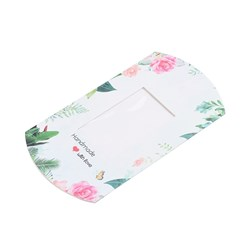 White Paper Pillow Boxes, Gift Candy Packing Box, with Clear Window, Word Love, White, 17.5x10.05x3.85cm